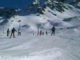 Moi au ski petit saut snowpark