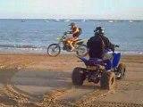 350 RAPTOR N 250 RM WEELING N DRIFT ON THE BEACH