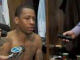 NBA Allen Iverson talks about his late shot attempt in Thurs