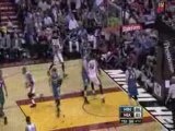 Dwyane Wade Great Crossover and Alley-Oop Pass to Beasley