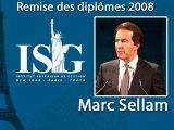 Remise des diplômes ISG 2009 - Discours de Marc Sellam - Président