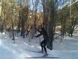 Entraînement skating dans les Hautes-Alpes