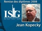 Remise des diplômes ISG 2009 - Discours de Jean Kopecky - Ambassadeur de la République Tchèque