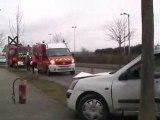 Beauvais : accident, perte de contrôle d'une Clio à Elispace