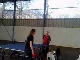 Entrainement tennis de table tt baulon hélène, gérard