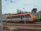 Départ de la gare de Cherbourg