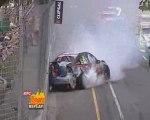 Caruso big crashes V8 Supercars Adelaide 2009 race 1