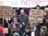 Manif à Grenoble : étudiants, enseignants chercheurs