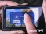 YP-P3, Ecran tactile Actuellement