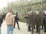 Gare Strasbourg gendarmes et étudiants renfort de CRS