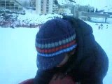 corentin a la neige, corentin in de sneeuw