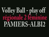 VOLLEY BALL féminin PAMIERS play off contre Albi2 ariege