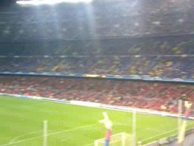Camp Nou - Barça Lyon 11.03.2009