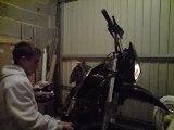 ma moto avc le pot dorigine usé de 5 ans