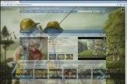 Pub Cocacola en background vidéo sur Dailymotion le 18/03/09