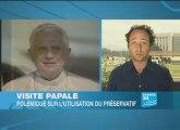 Le pape Benoît XVI contre l'utilisation du préservatif