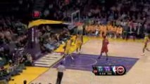 NBA Monta Ellis steals the pass...He finishes with a slam