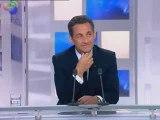 Sarkozy en off avant son interview sur Fr3
