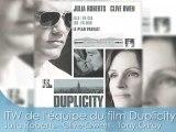 Julia Roberts et Clive Owen pour le film DUPLICITY en itw