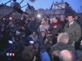 Campement citoyen de Notre Dame: évacuation - 2007