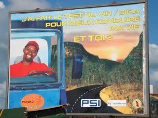Exposition panneaux prévention Vih/sida - Afrique de l'ouest