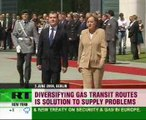 Medvedev & Merkel on gas & finances