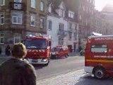 Une quarantaine de véhicules de pompiers s'installent
