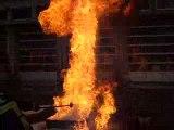 cadets-pompier huile de friteuse plus eau