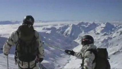 Héliski sur l'Aiguille des Glaciers