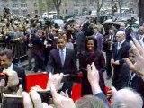 Arrivée d'Obama au palais des Rohan à Strasbourg
