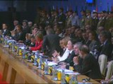 Barack Obama speaking at Nato summit