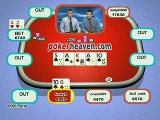 Poker Heaven Online Series of Poker - Final part 4