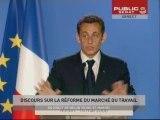 EVENEMENT,Discours de Nicolas Sarkozy sur la réforme du marché de l'emploi