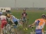 Paris Roubaix 2009   chutes au ralenti