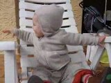 Thibault sur sa chaise longue