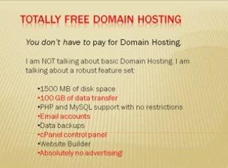 Totally Free Domain Hosting