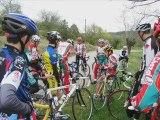 Stage à Vogué cyclisme comité Savoie cadets