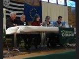 Mona BRAS (UDB) et Yannick Jadot Europe Ecologie à Carhaix