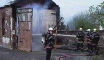 Fourmies - feu de garage rue Ninite