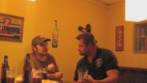 Discussing Beer Wars Live and drinking Beer