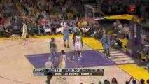 NBA Luke Walton finds Lamar Odom with the wrap-around pass a