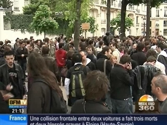Manifestation Anti-Hadopi à Paris 25.04.09