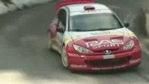 Rallye de l'Escarene 2009 peugeot 206 WRC ps col de Turini