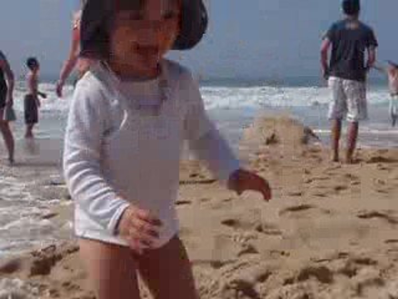 carla à la plage
