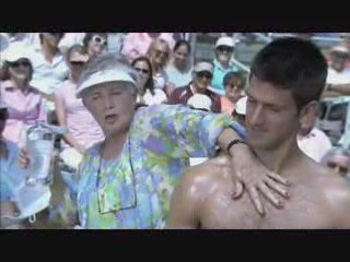 Novak Djokovic scores on and off court