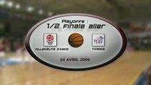 LFB 2008 2009 : PLAYOFFS 1/2 FINALE ALLER ESBVA / TARBES