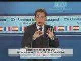 EVENEMENT,Conférence de presse conjointe de Nicolas Sarkozy et José Luis Zapatero