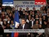 EVENEMENT,Meeting de Nicolas Sarkozy sur la crise à Saint Quentin