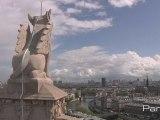 Tout en haut de la Tour Saint Jacques rénovée...