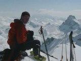 Exercices Ski alpinisme fin saison, Mai 2009. Groupe FFME